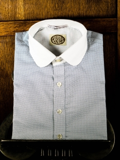 Fancy Blue and white Neo Edwardian Shirt