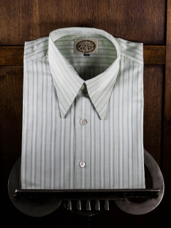 Willow Green Striped Spearpoint Shirt