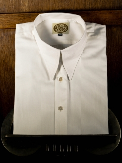 Antique White Striped Spearpoint Shirt