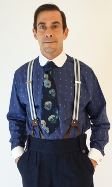 Blue Motif Neo Edwardian Shirt