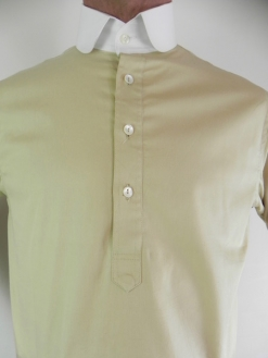 Caramel Khaki and White Neo Edwardian Shirt