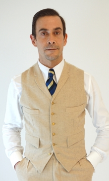 Cream Fine Wool Flannel Four Pocket Waistcoat
