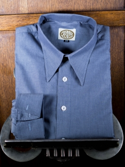 Dark Grey Tonic Spearpoint Shirt