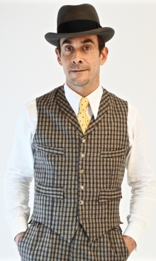 Dapple Grey English Check Four Pocket Waistcoat