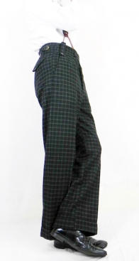 Dapper Grey Green Fine Check Oxford Bags