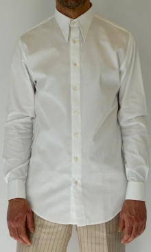 White Diamond Weave Spearpoint Shirt