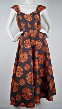 Full Circle Dress 1950's Sputnik Print