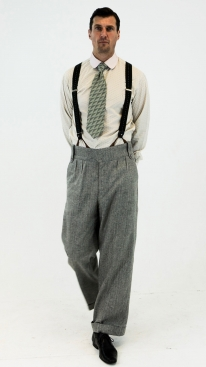 Light Grey Italian Pinstripe Oxford Bags