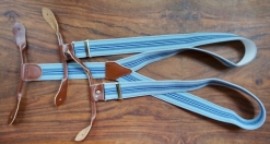 Light and Dark Blue Stripe Button Braces