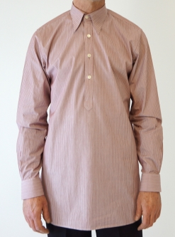 Rose Pink and Burgundy Stripe Spearpoint Shirt