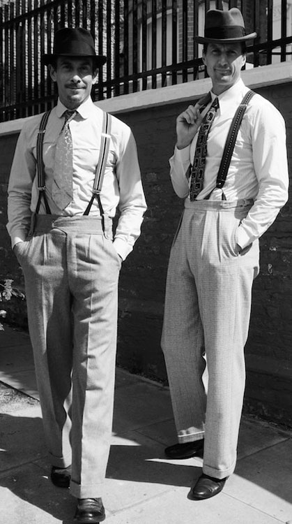 men in vintage clothes